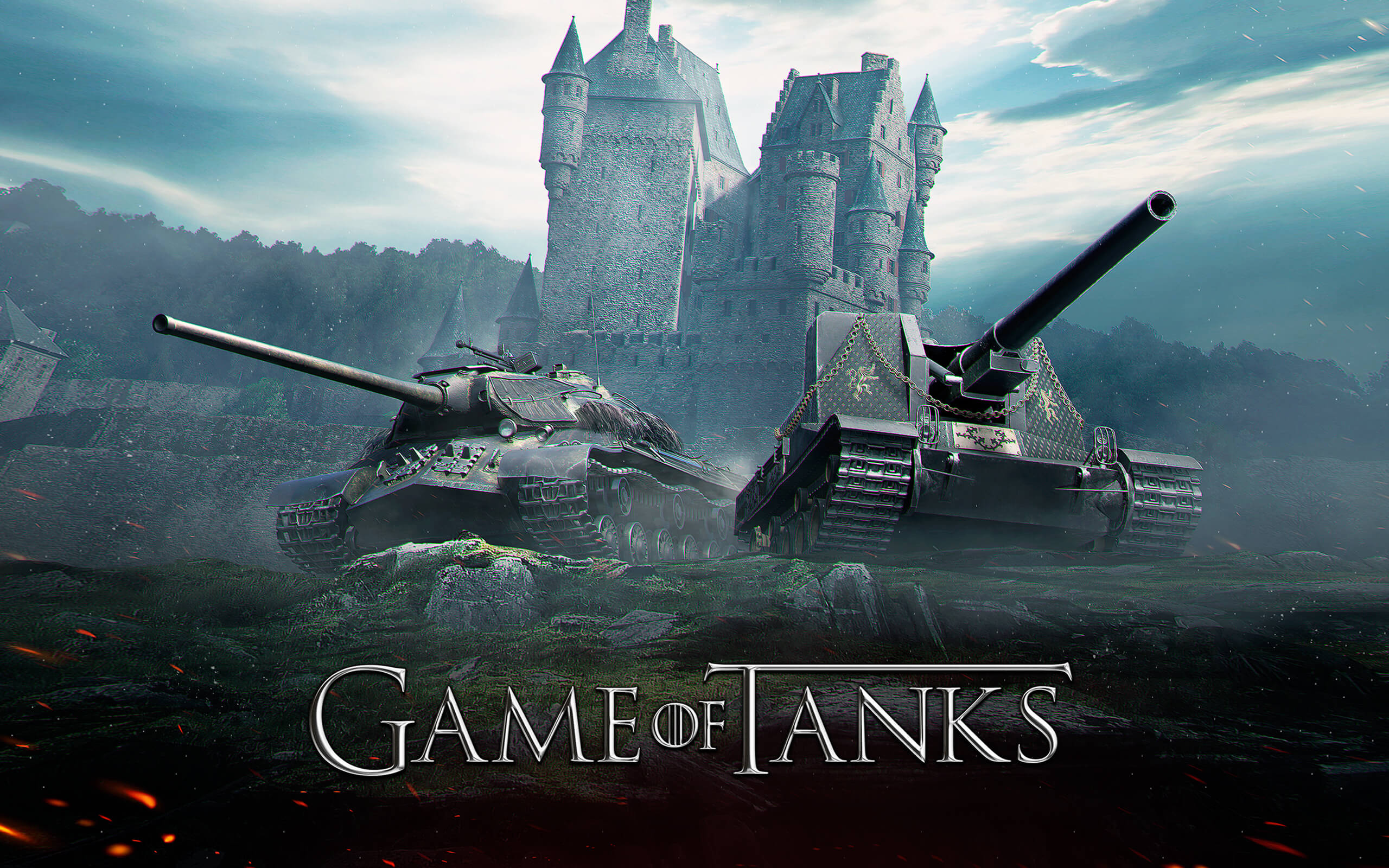 "wot: ""game of tanks"" wallpaper – the armored patrol"